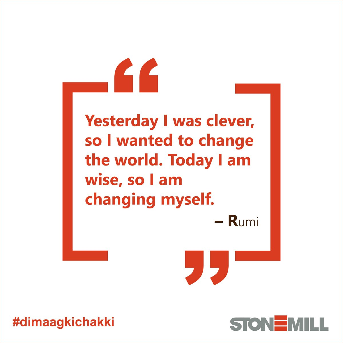 The world is changing at a rapid pace and so are we! Striving for perfection, we are adapting to the changing needs to become better versions of ourselves.  #rumi #wednesdaythought #successquotes #startup #writingcommunity #artistsontwitter #community #poetry #dimaagkichakki