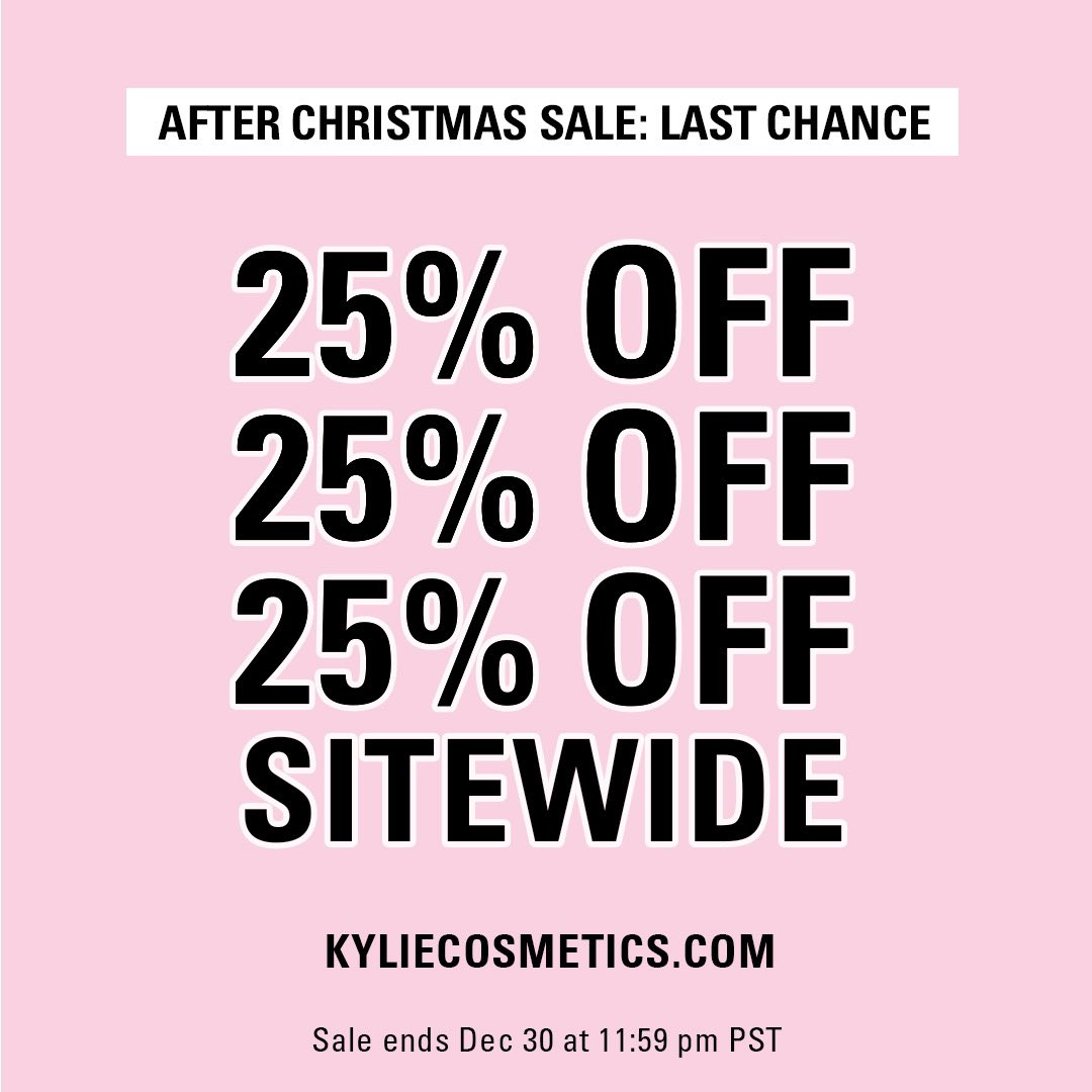 today is the last day to shop my @kyliecosmetics after Christmas sale!