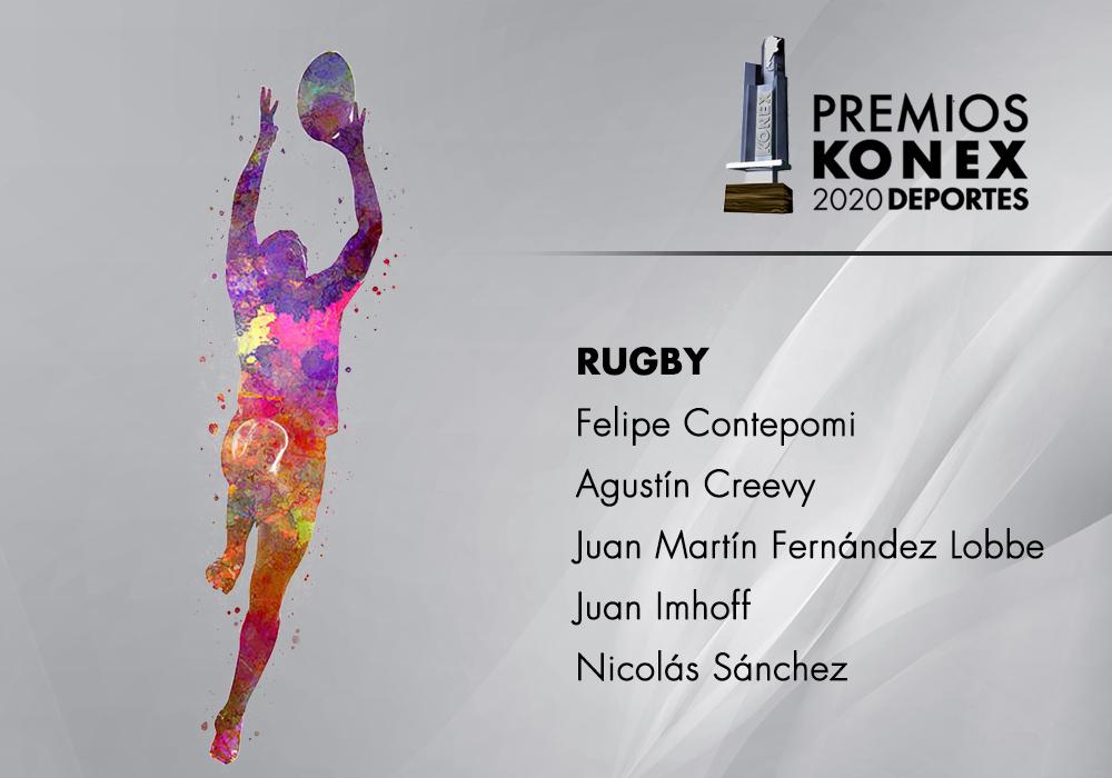 Los mejores jugadores de #Rugby de la última década en la Argentina, ganadores del #PremioKonex 2020, son:   🔹Felipe Contepomi 🔹@agustincreevy 🔹Juan Martín Fernández Lobbe 🔹Juan Jose Imhoff 🔹@NicoFSanchez  Acá el listado completo de premiados👇
