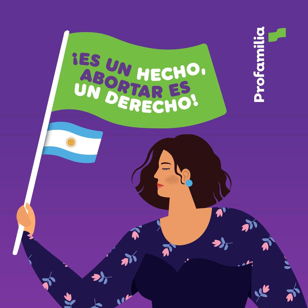 ¡Es ley! Celebramos el paso histórico que dio Argentina en la garantía de los Derechos Sexuales y Derechos Reproductivos. Que la lucha de las mujeres sirva de inspiración para la región.💚  #LaDecisiónEsTuya #EsLey #AbortoLegal2020