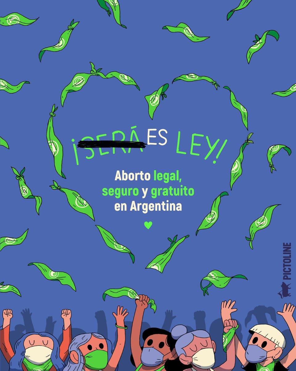 ¡ES LEY! 💚 Gracias a la lucha de miles de mujeres, en Argentina el aborto será legal, seguro y gratuito