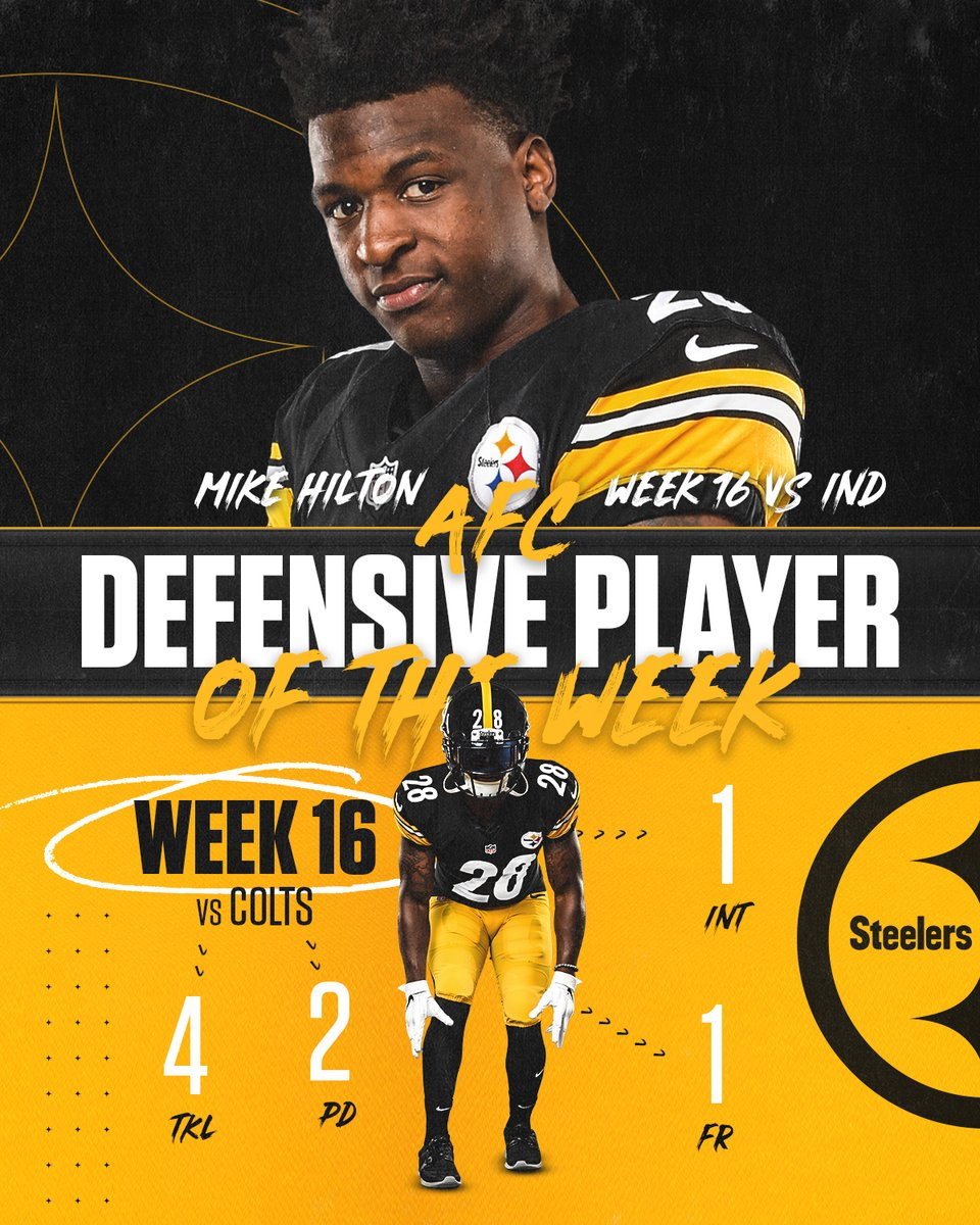 .@MikeHilton_28 has been named AFC Defensive Player of the Week for Week 16!  📝: