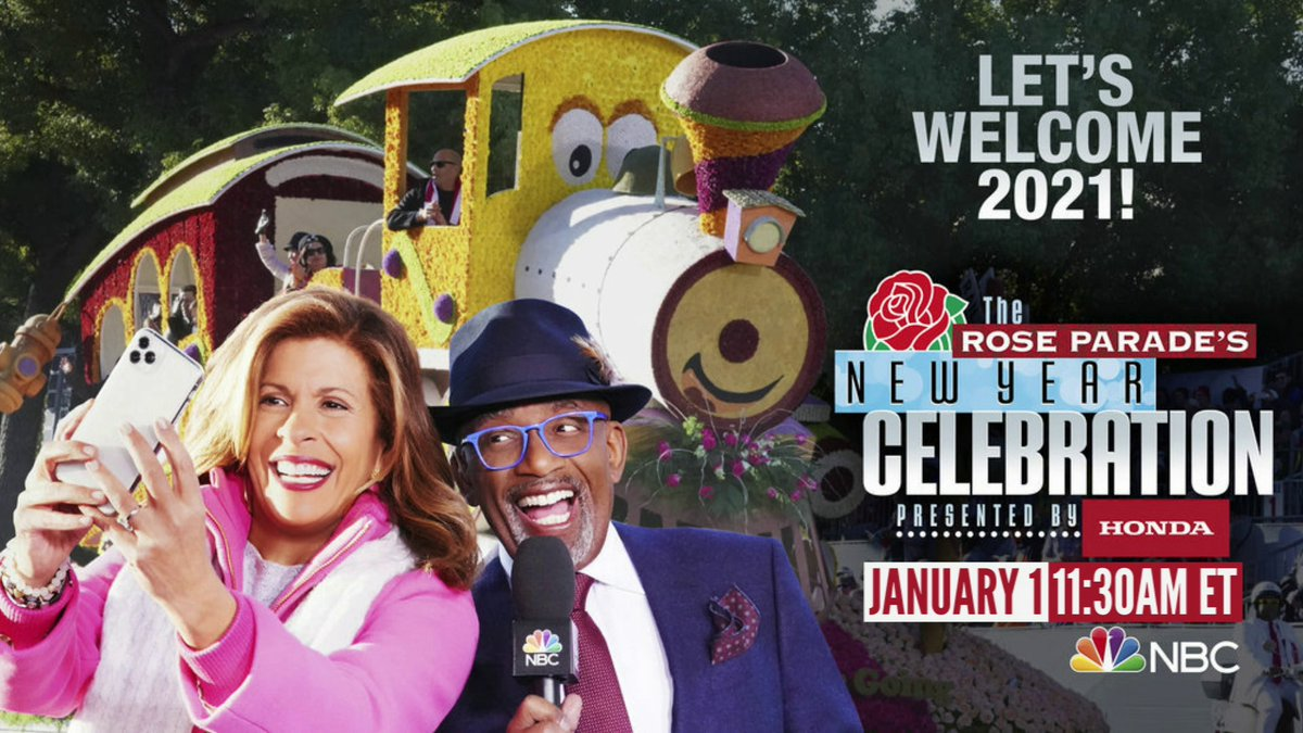 The annual Rose Parade has been reimagined this year and will feature celebrity guests and musical performances along with the beautiful flowers. @hodakotb and @alroker will host the Rose Parade special on Jan. 1 on @nbc. 🌹