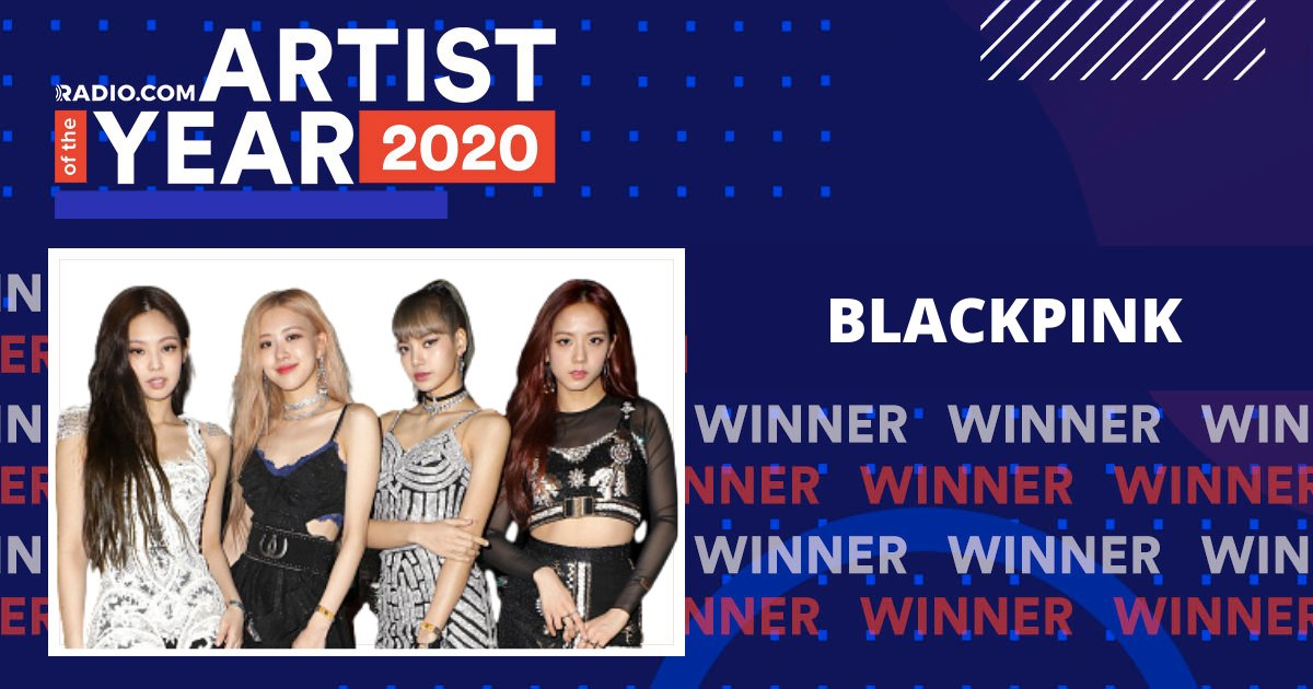 WINNERS IN YOUR AREA!  👑 @BLACKPINK 👑 is officially your  Artist of the Year! Stay tuned for our #BLACKPINKDay celebration to be announced soon! 👏 #RadiocomAOTY   @ygofficialblink | #BLINKS