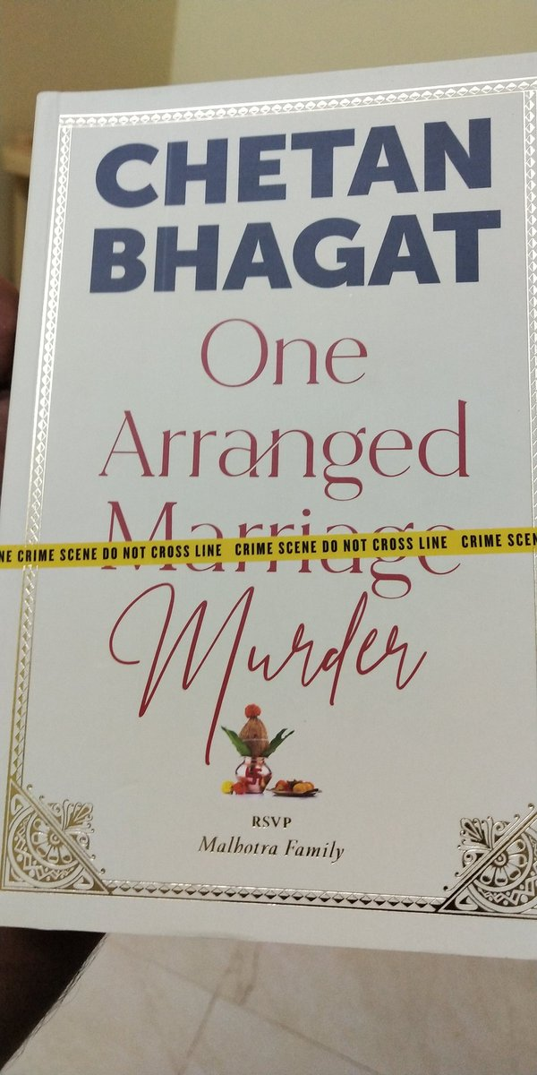 Just received #OneArrangedMurder book. Starting reading the novels from hereonwards. Happy to start with #OneArrangedMurder by @chetan_bhagat sir