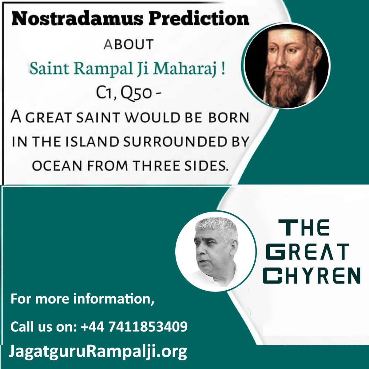 #GodMorningFriday #FridayThoughts NOSTRADAMUS PREDICTION ABOUT SAINT RAMPAL JI MAHARAJ !  Under the leadership of Chyren, the Golden Age will descend on the sacred land (India) of this Earth. @SaintRampalJiM  Visit Satlok Ashram YouTube Channel 🙏👇👇👇🙏