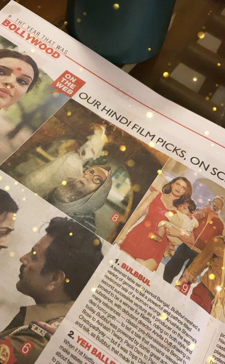 #Bulbbul ranks #1 in @t2telegraph 's list of top films in 2020. Yayyyy! ❤️❤️❤️ @OfficialCSFilms @AnushkaSharma #karneshsharma #anvitadutt #2020BestFilms Congratulations team!!!