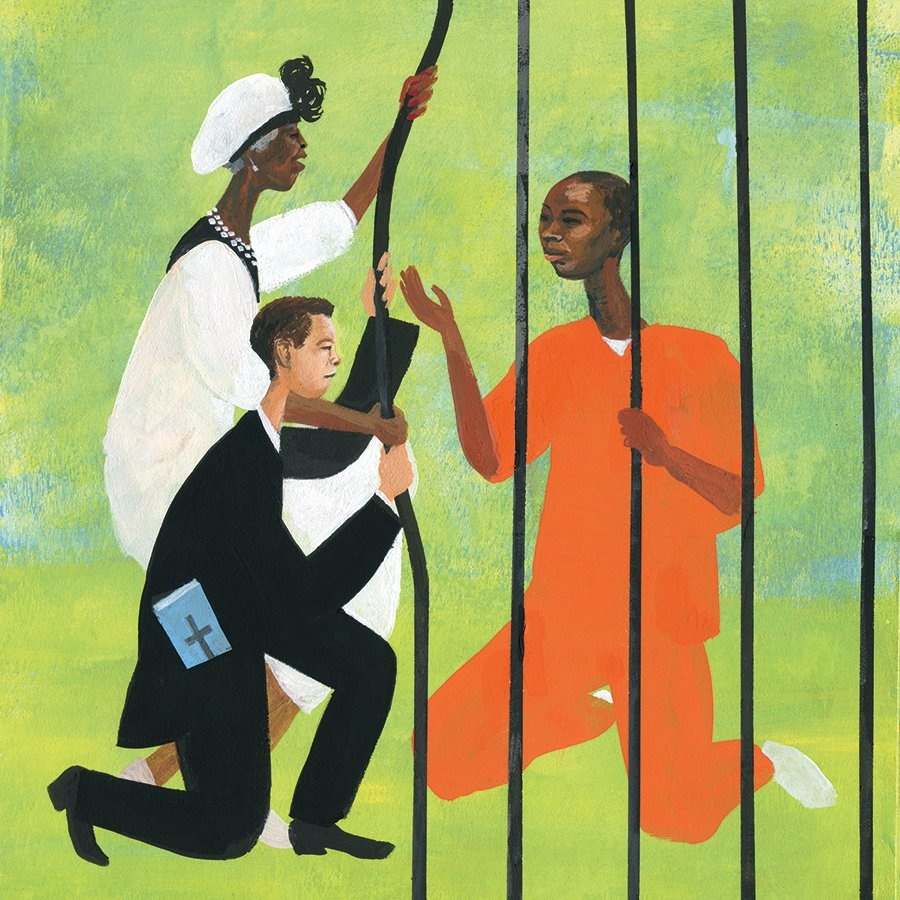 The current #HarvardDivinityBulletin features stunning illustrations of #massincarceration by #Caldecott winner R. Gregory Christie (@GasArtGifts). As illustrator, Christie injects wonder and beauty into historical and contemporary narratives of Black resilience and creativity.