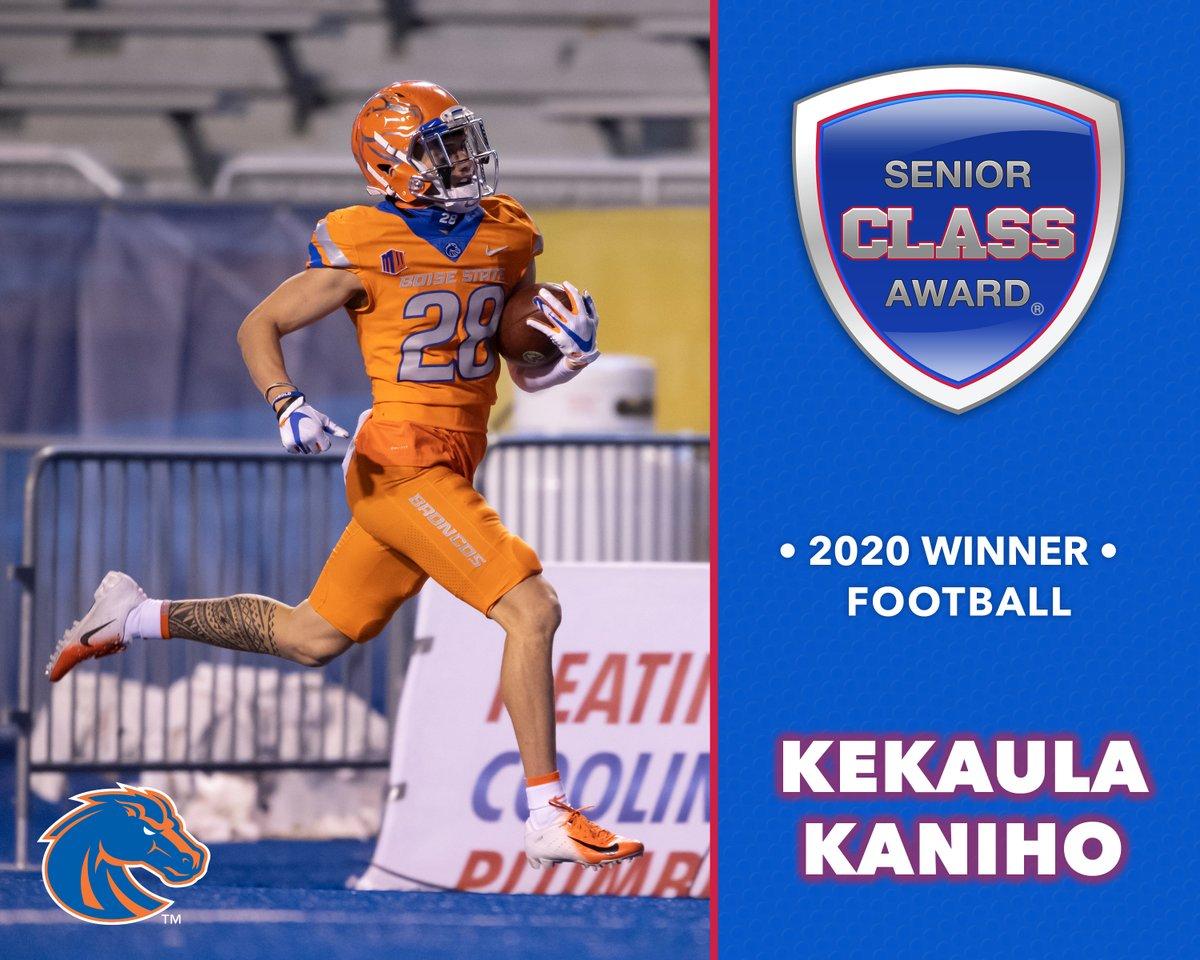 🚨 Winner Announcement 🚨 Boise State's Kekaula Kaniho wins 2020 Senior CLASS Award® for FBS Football @BroncoSportsFB @BroncoSports seniorclassaward.com/news/view/bois…
