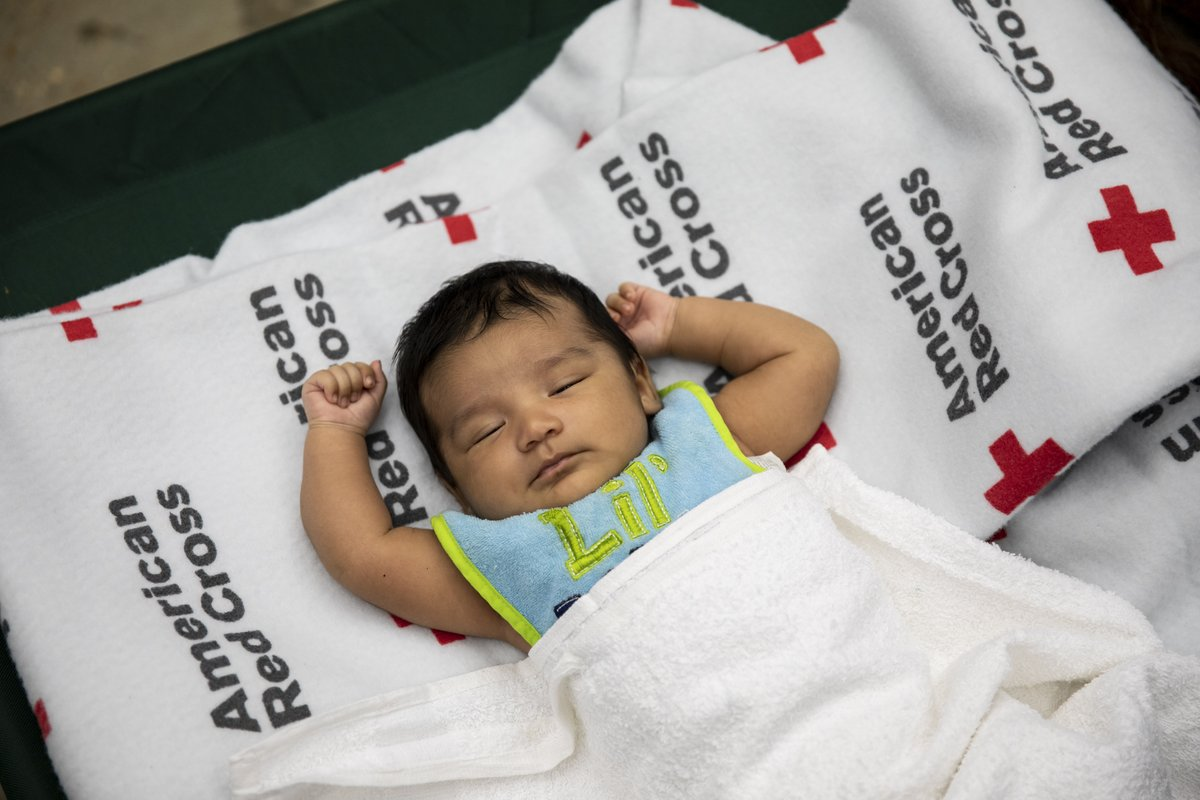 As we await the 'birth' of #NewYear2021, our ❤️s are warmed by these sweet babies whose parents sought refuge from hurricanes at Red Cross shelters. A donation to help stock a shelter w/ infant care supplies can end 2020 w/ on a good note.  #GiveWithMeaning