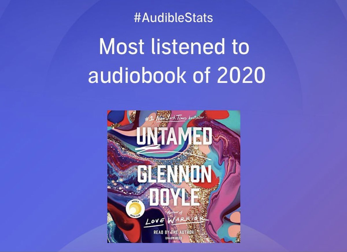Untamed is the most listened to book of 2020. Thank you.