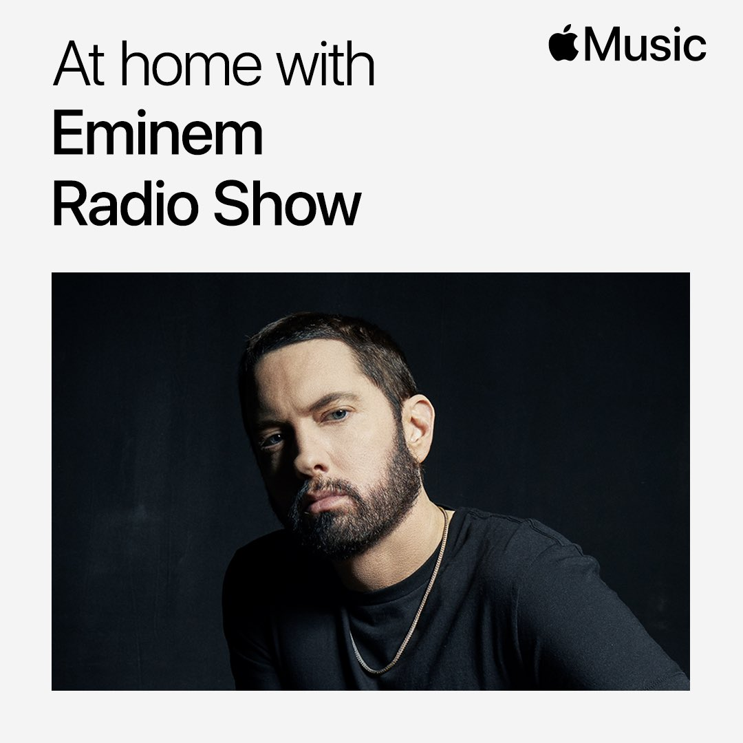 We've got a new #AtHomeWithAppleMusic for you coming up in 1 hour with the one and only @Eminem on @applemusic