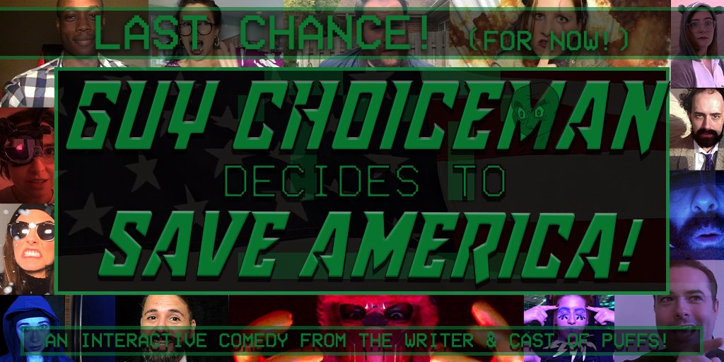 Do the chooses for the last time (for now) this weekend - 1/1 & 1/2 @ 7pm EST! Tix & info: mattcoxland.com