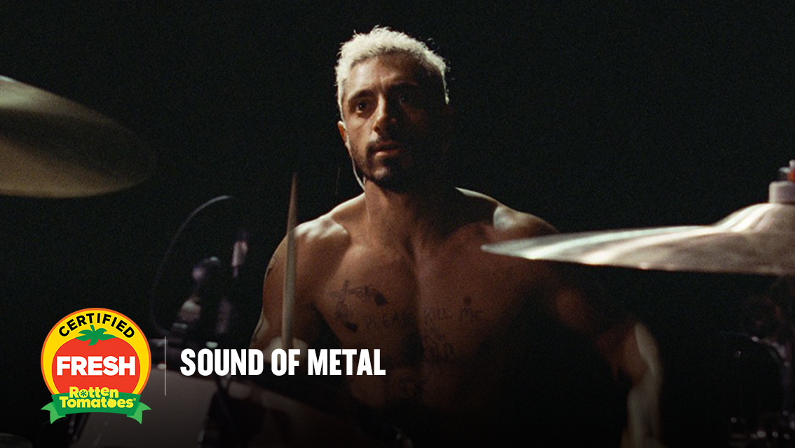 An evocative look at the experiences of the deaf community, #SoundOfMetal is brought to life by @rizwanahmed's passionate performance.  #SoundOfMetal is #CertifiedFresh at 97% on the #Tomatometer, with 184 reviews: