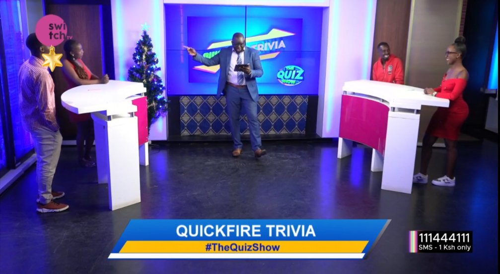 Catch tonight's #TheQuizShow with @freddiebudaboss  #festiveseason edition now on @switchtvkenya  #Wednesdayvibe