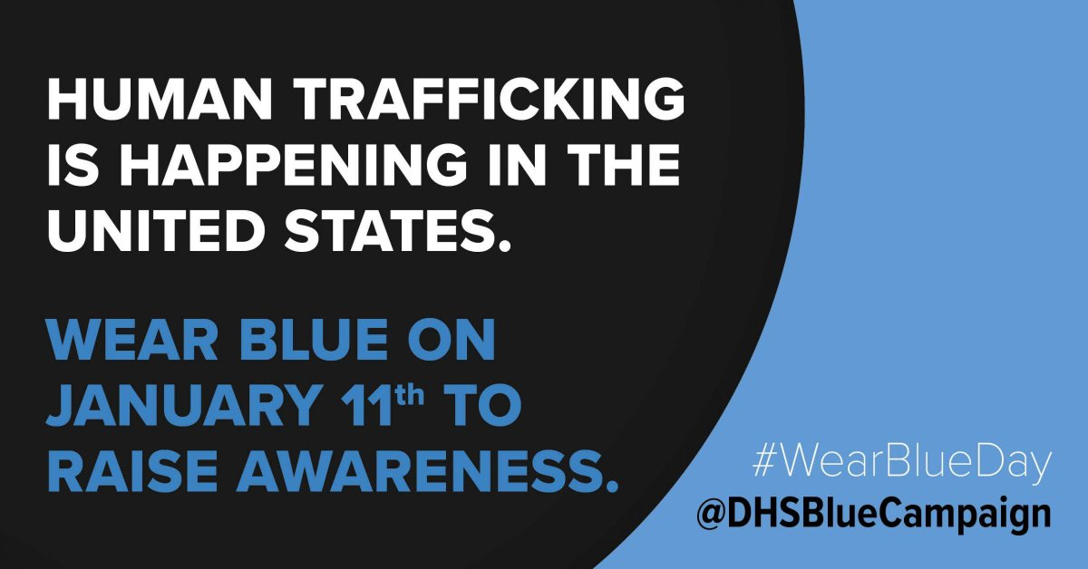 Tomorrow is National #HumanTraffickingAwarenessDay. Recognizing warning signs & identifying trafficked children & adolescents is challenging. @ChildrensPhila has information & resources on #childtrafficking & what healthcare providers can do:  #WearBlueDay