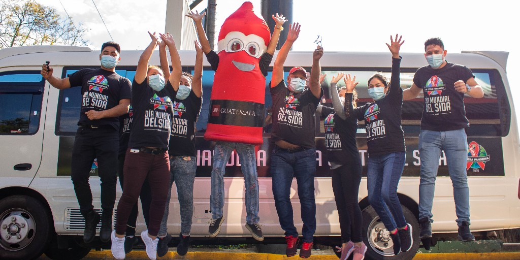 """COVID-19 didn't stop teams across AHF's global bureaus from commemorating World AIDS Day.    We must never stop fighting """"AIDS: The Other Pandemic.""""  #WAD2020 Photos of: • Jamaica • Guatemala • Nepal • Zimbabwe •   #AIDStheotherpandemic #ahfglobal"""