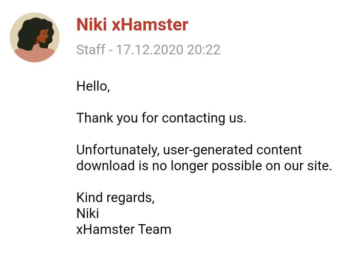 1 pic. UPDATE: xHamster another of the world's largest porn tube sites falls in line after Pornhub/Mindgeek