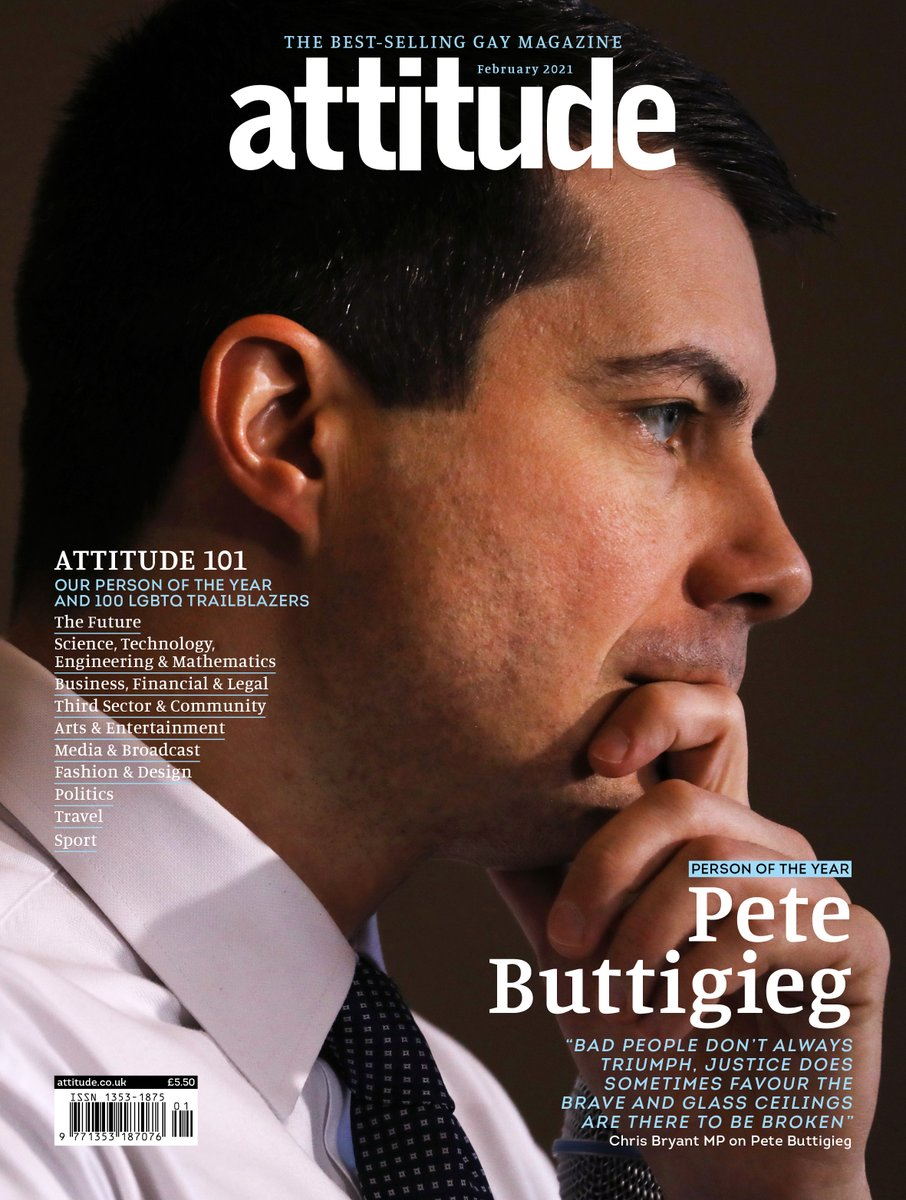 100 LGBTQ trailblazers. 10 categories. One Person of the Year. 🏳️🌈  The #Attitude101 February issue - led by @PeteButtigieg, #Bridgerton star Jonathan Bailey & @arloparks - is officially here.  Download:  Order in print and subscribe: