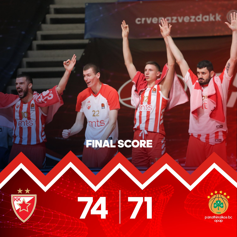 EuroLeague – Al Panathinaikos non riesce la rimonta, vince la Stella Rossa