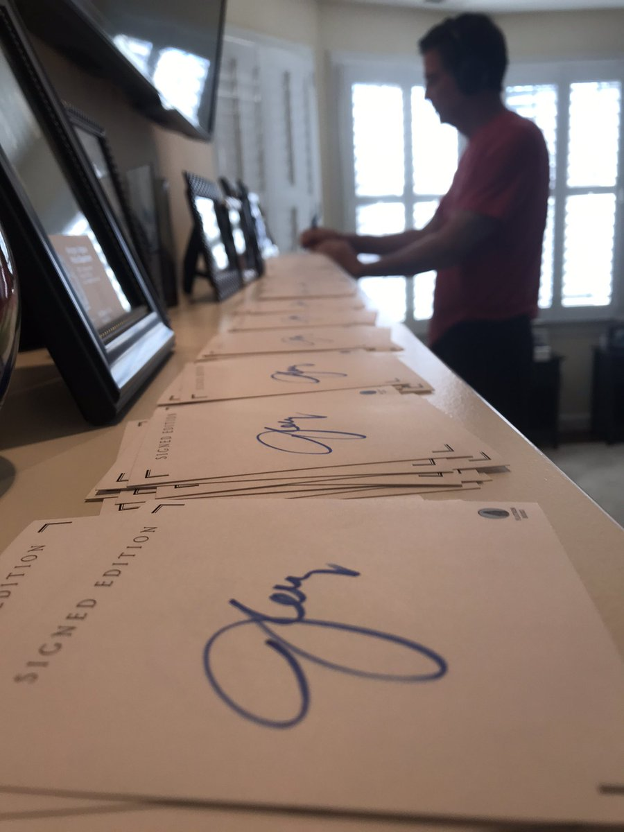 "Signing bookplates today for folks who attend my virtual ""Saving Justice"" events next month."