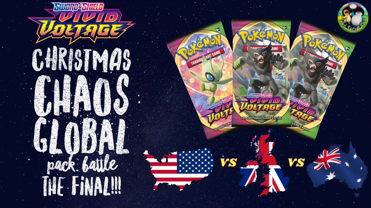 We're in the final of the Global Pack Battle. 3 packs of #vividvoltage to win the day! Check out how we got on here:  #Pokemon #PokemonSwordShield #PokemonTCG #packbattle #global #worldwide #pokemongo