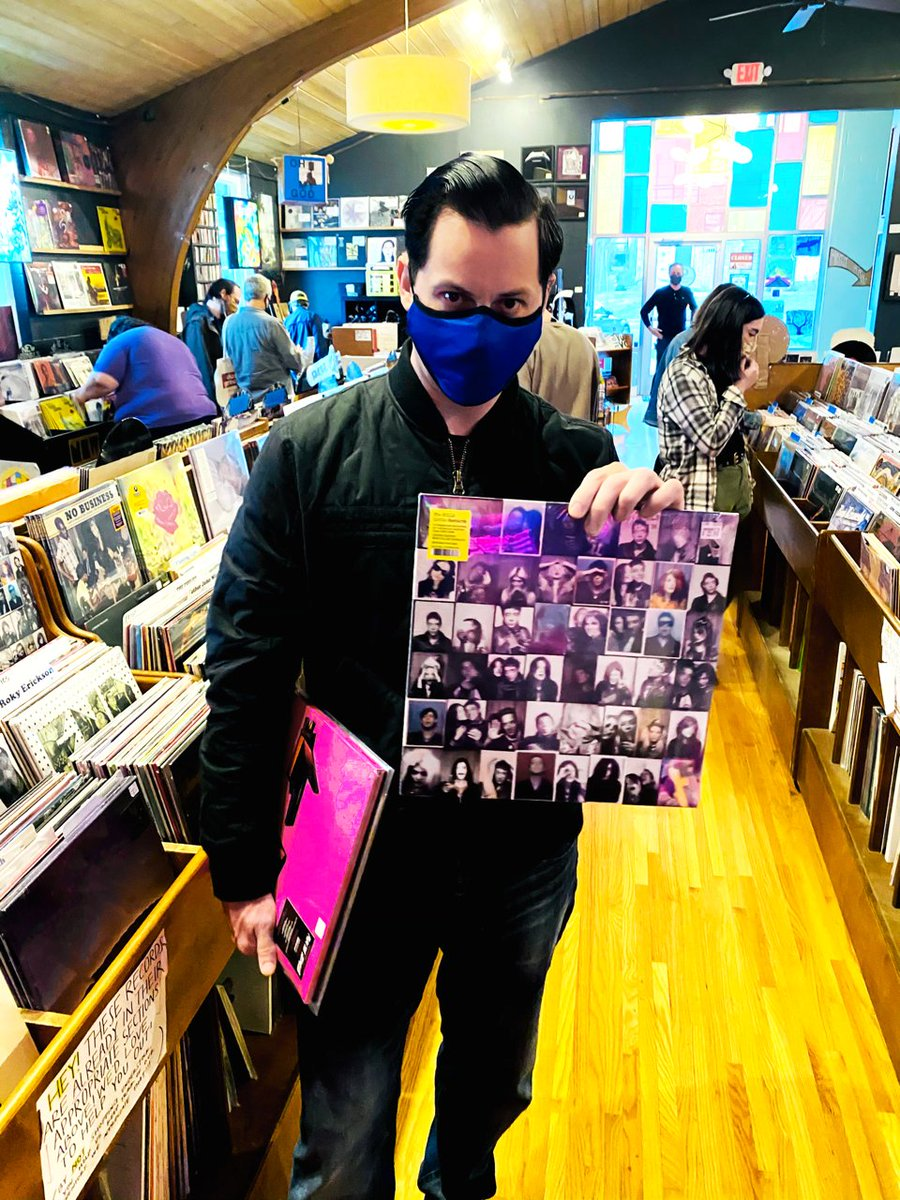 Jack White encourages you to support your local record store online or in-store safely and check out @TheKills Little Bastards compilation. #thekills #jackwhite