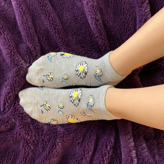 Yay! I just sold my Store Item: Grey socks with flowers xx! Check it out here https://t.co/LLU6Y461QE