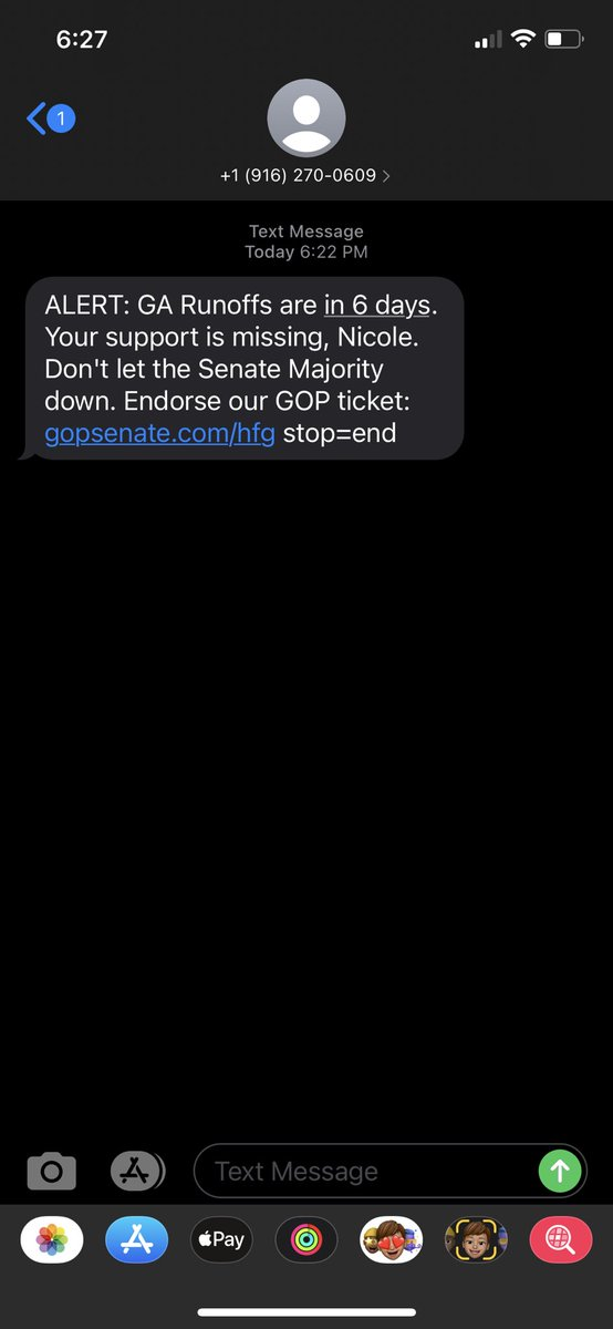 Just got this text on a number I've had for 20 years. I'm in Michigan and I'm NOT Nicole.