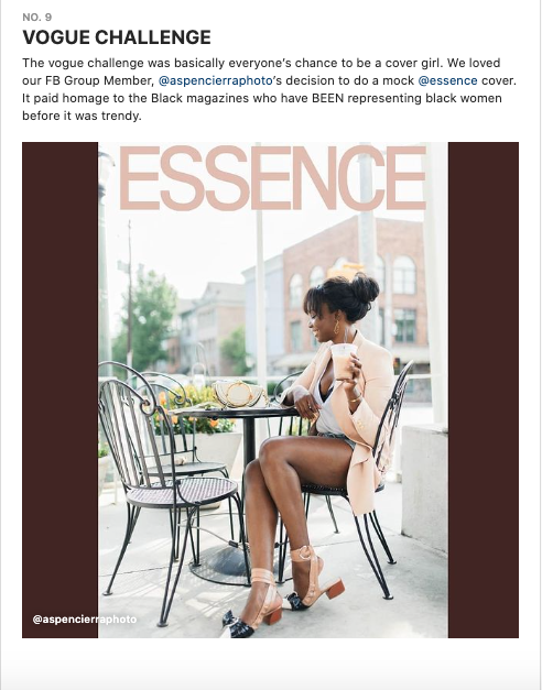 Shoutout to @Refinery29 #r29unbothered for featuring my  @Essence #essencechallenge in their Instagram Guide for the year ! I'm #9.