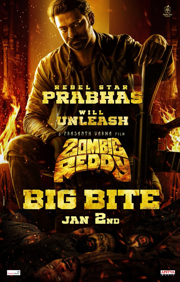 PRABHAS TO UNVEIL TRAILER... #Prabhas will launch the trailer of #Telugu film #ZombieReddy on 2 Jan 2021... Shoot over... Post-production in progress... Directed by Prasanth Varma... Produced by Raj Shekar Varma.