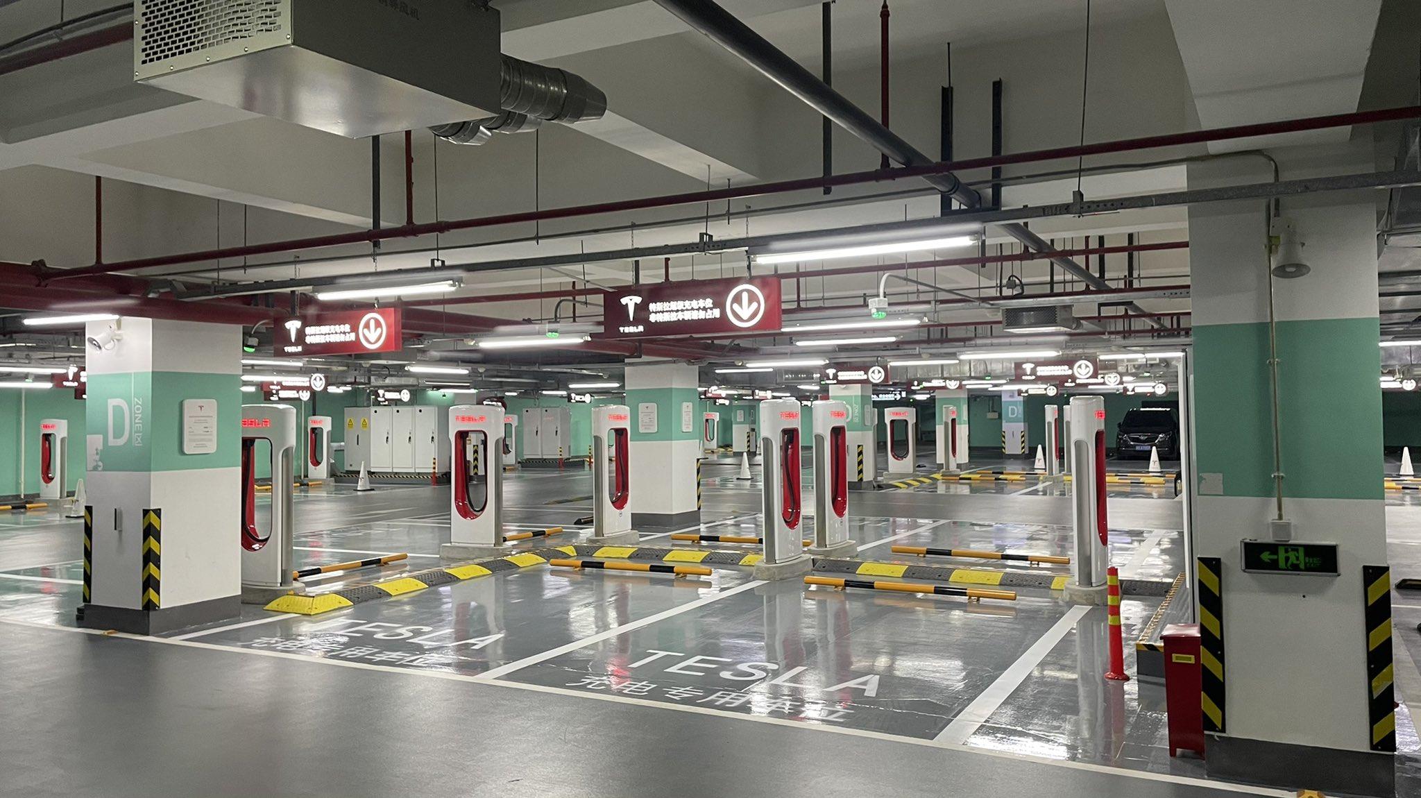 Tesla estação de carregamento SuperCharger Shangai