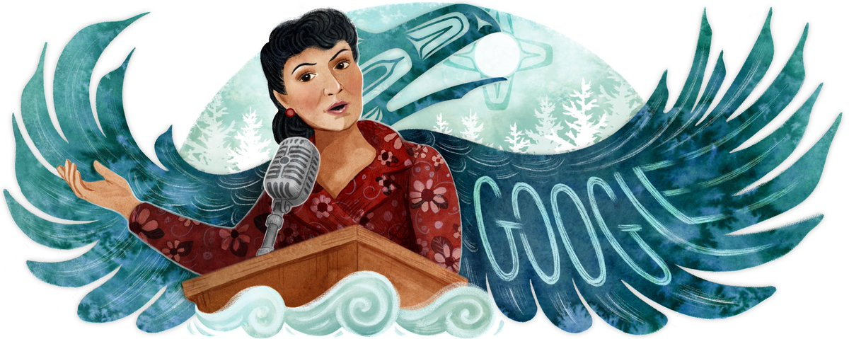 Here are a few process pics from today's @GoogleDoodles celebrating Tlingit civil rights leader Elizabeth Peratrovich. Gunalchéesh for all of the support from near and far —I think it's fair to say that Alaska was pretty excited about this today!! 😆