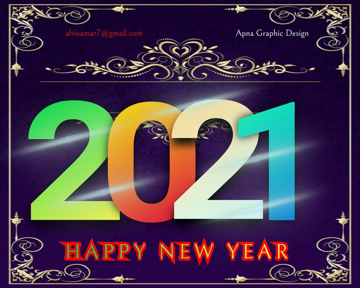 Happy New year Design 2021 ❤️❤️ Today Offer 200Rs. only  Social Design , Logo , Business card Flex,  #Twitterlogo #twitterdesign #simpledesign  #Logo #Pamphlet @Samaralvi4