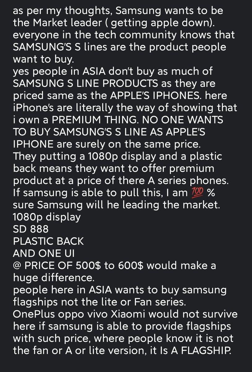@Dave2D @MKBHD @SamsungMobile @MKBHD @superscientific @Mrwhosetheboss @UnboxTherapy @UrAvgConsumer #technology  #SamsungGalaxyS21  #Samsung #samsungglobalgoals