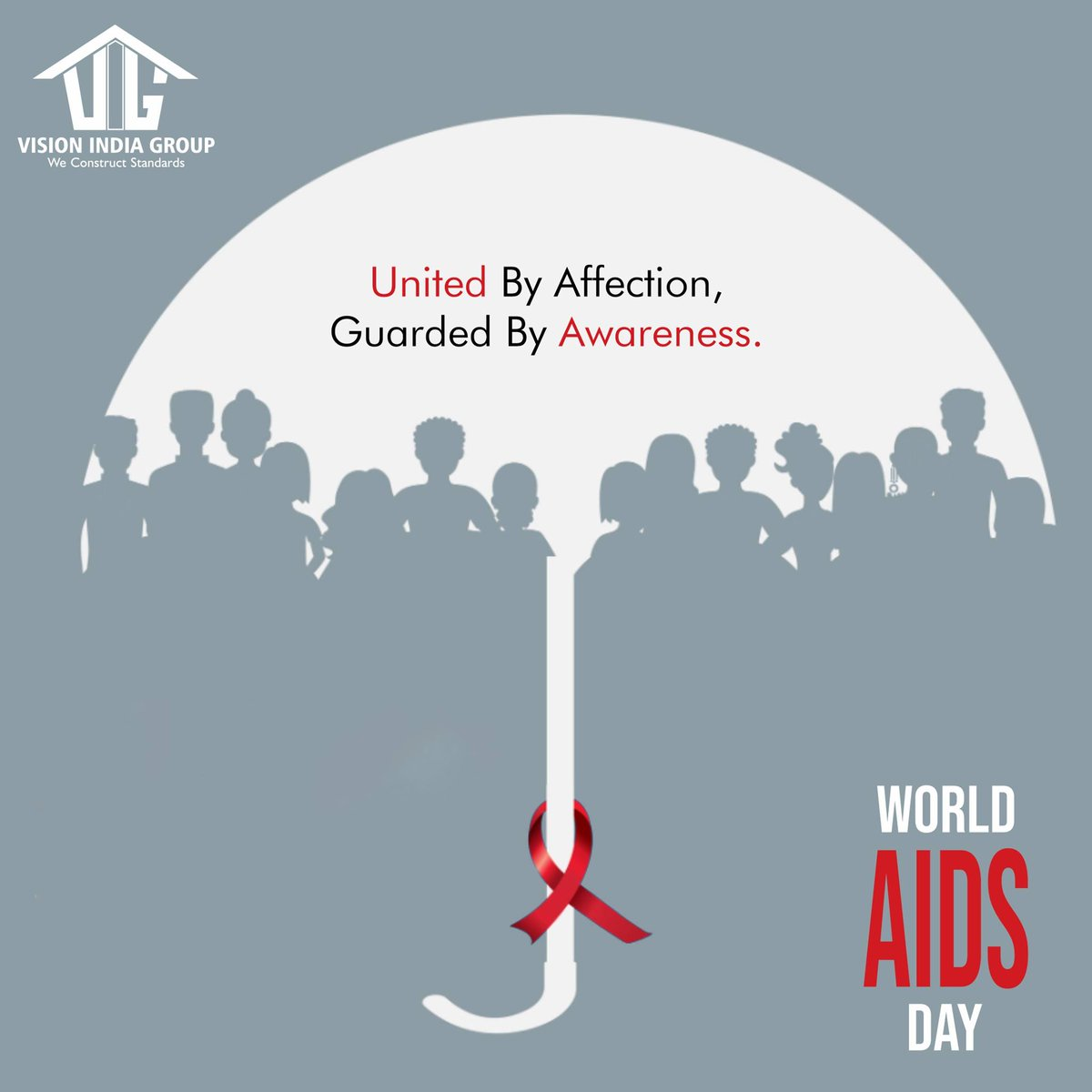 Strengthen the support to weaken the spread of AIDS. WORLD AIDS DAY #visionindiagroup #worldaidsday2020 #aidsday #awareness #aids #positivity