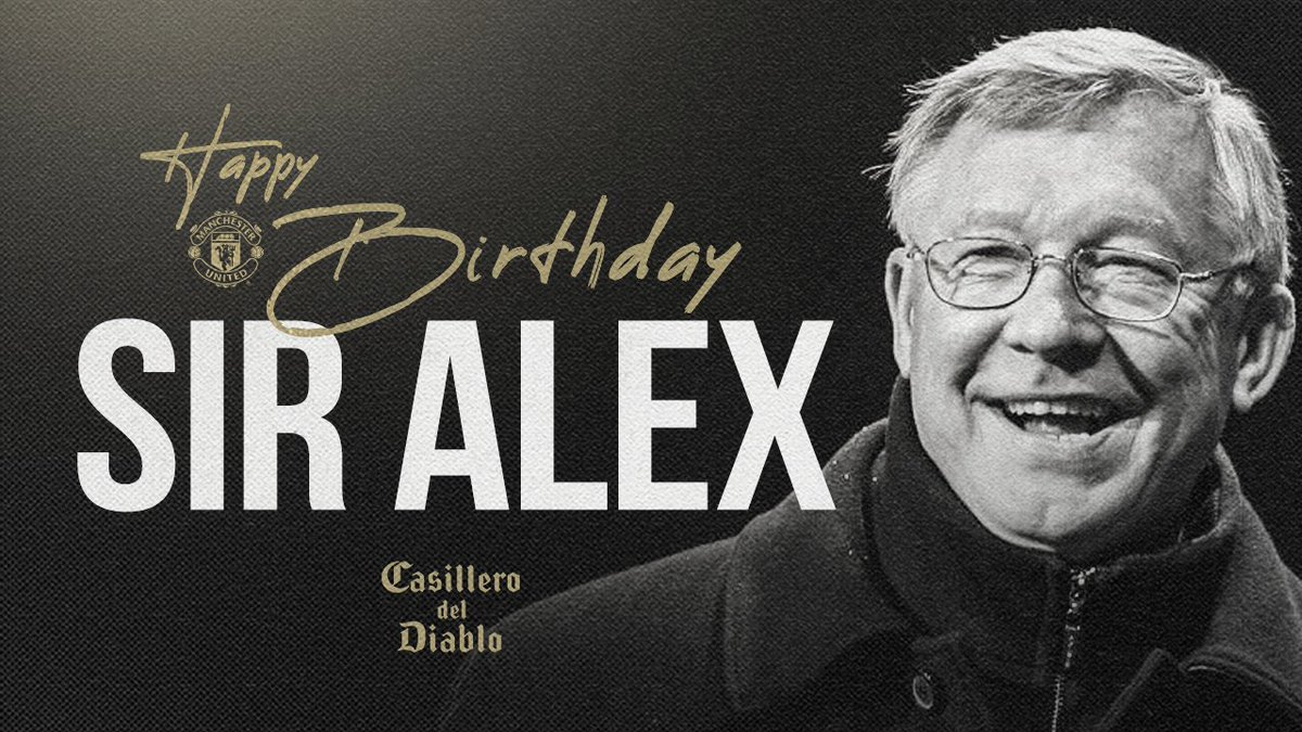 The greatest.  Happy birthday, Sir Alex ❤️  #MUFC @CasilleroDiablo