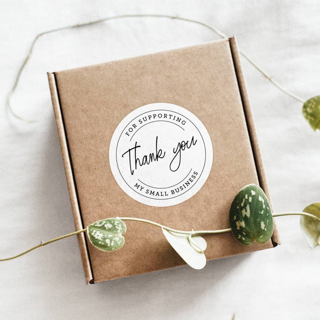 """Saying """"Thank You"""" goes a long way in delighting your customer.  With Avery labels, you can easily print and share your message of gratitude with every purchase.    #happycustomer #thankyounote #personalised #note #custompackaging"""