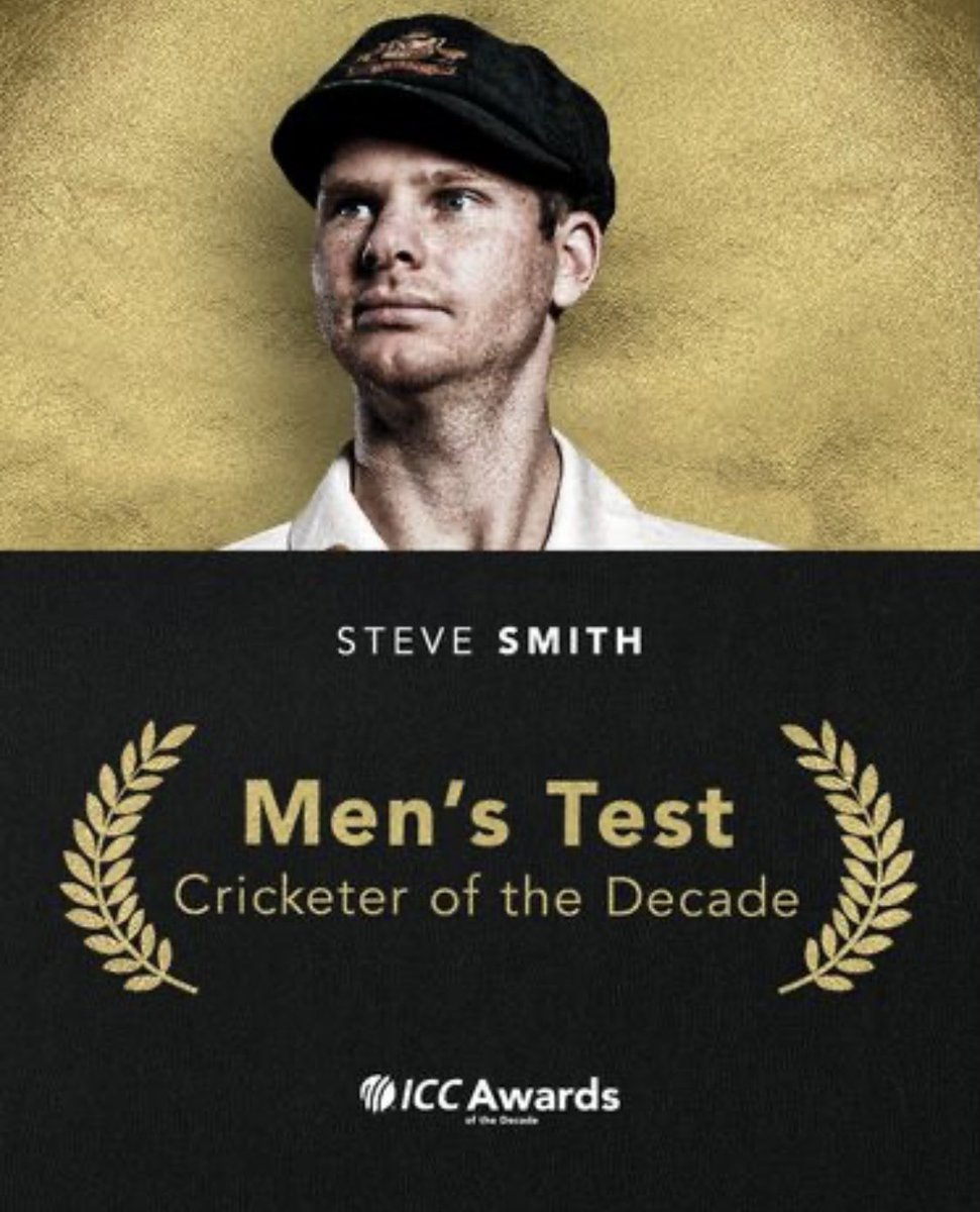Humbled to be named Test player of the decade. I would like to thank everyone who has supported me throughout my career so far. I've had a lot of fun, faced many challenges, learnt so much and now I can't wait to see what the next decade has in store for me 🏏 🙏