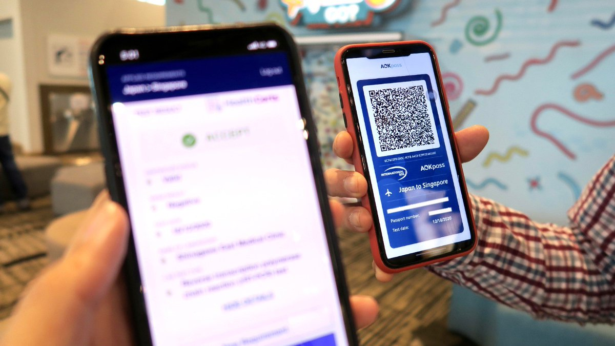 ICC #AOKpass is now available for travellers from Malaysia & Indonesia to digitally authenticate their #COVID19 test results at the Singapore #ChangiAirport. The app will eventually allow verification for other immunisation and medical compliance records. https://t.co/czughudFos https://t.co/kknRtKUEmK