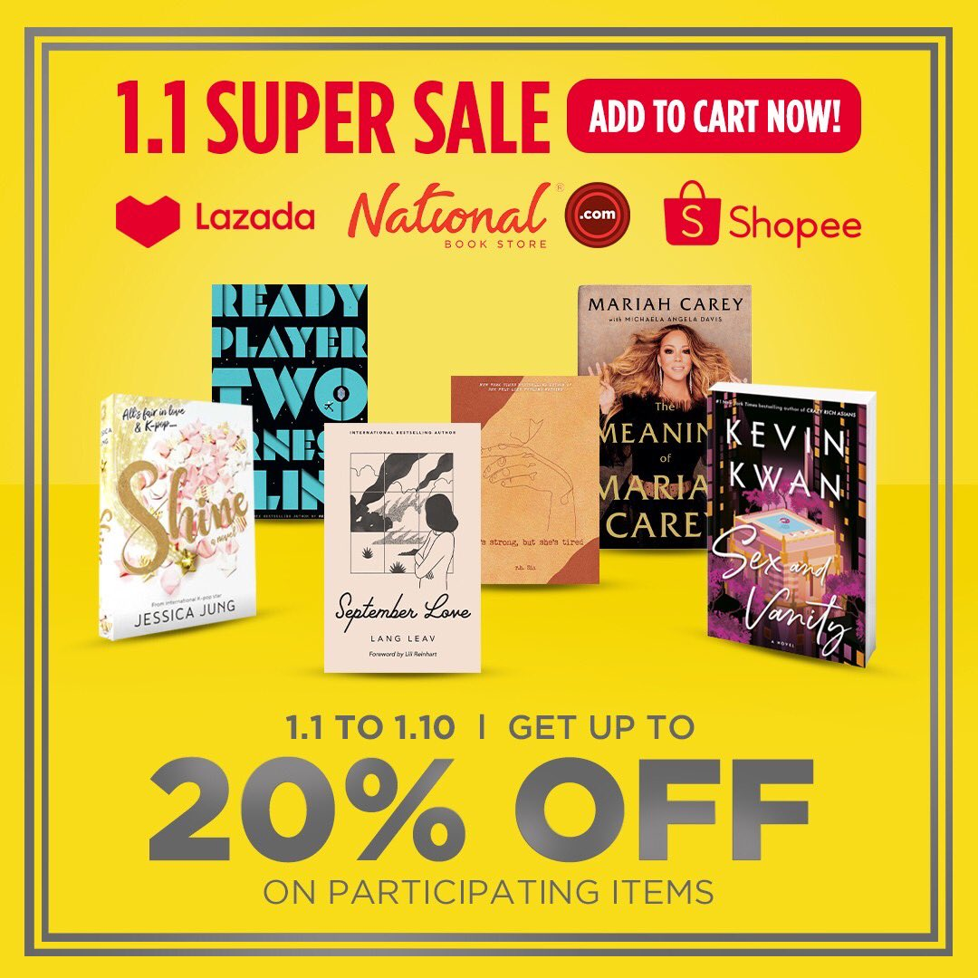 Get ready to shop online and enjoy our 1.1 SALE with up to 20% OFF on participating items!  Add to cart and check out now: 🔗 🔗 🔗  #Sale #NBSsale #NBSeveryday