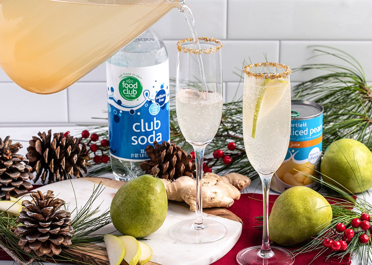 Ring in the New Year with our Sparkling Ginger Pear Punch! 🥂 🎉 Get refreshed this New Years Eve ➡ bit.ly/2MjBkEt #BrookshireBrothers #NewYear #Yum #HappyNewYear