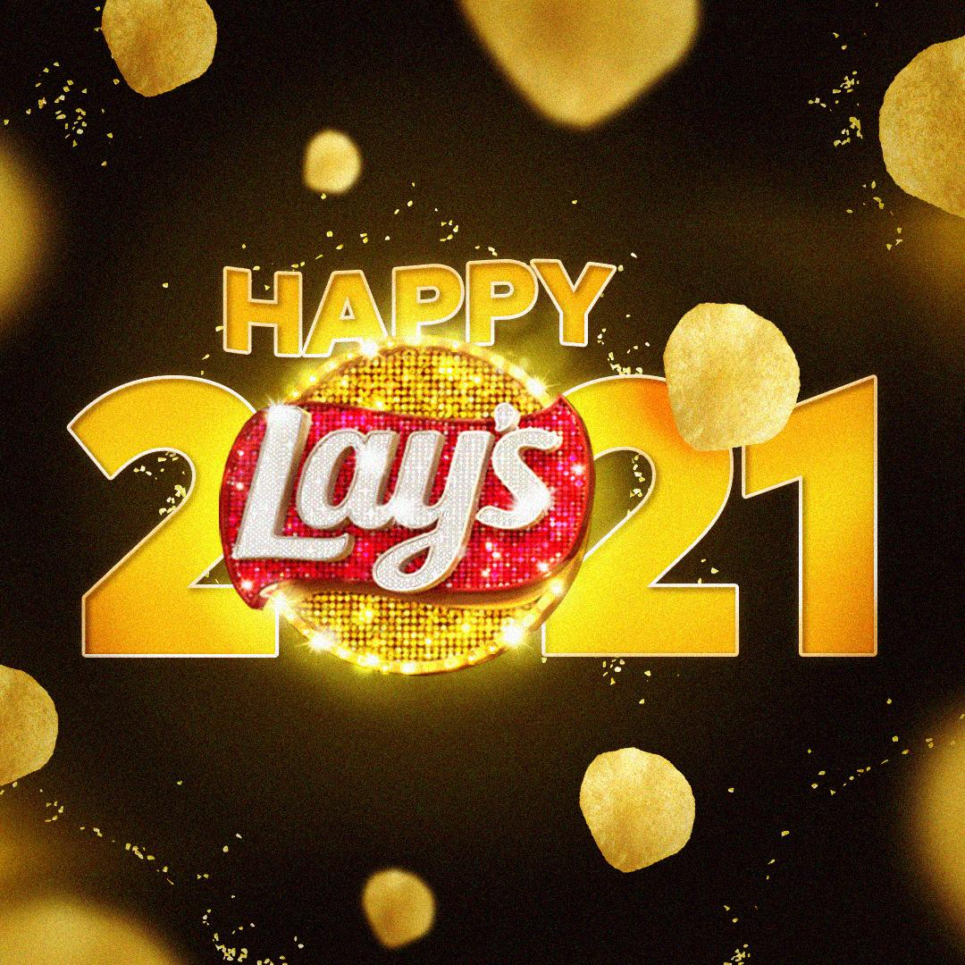 Here's to a delicious start to the new year! Wishing you all a flavorful 2021! #LaysOnHolidays