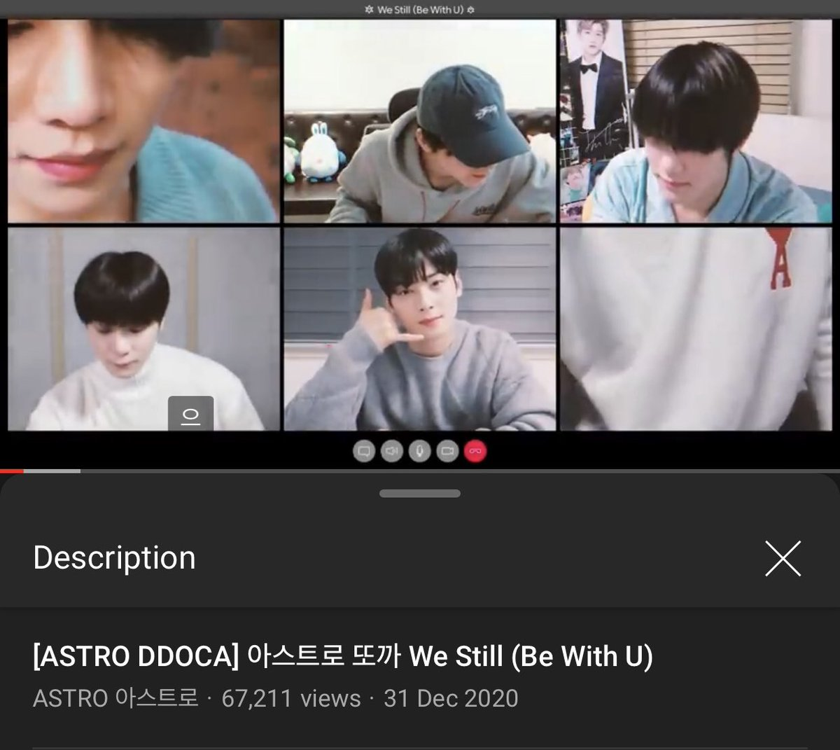 [📈] 210101 12:15 AM KST 'We Still (Be With U)' DDOCA Official Channel: 67,211 views (🔺4,001) 🔗youtu.be/zyk2KpV6avk Naver TV: 87,524 views (🔺8,552) 🔗naver.me/FVPwMoN9 [ #아스트로 #ASTRO_BeWithU @offclASTRO ]