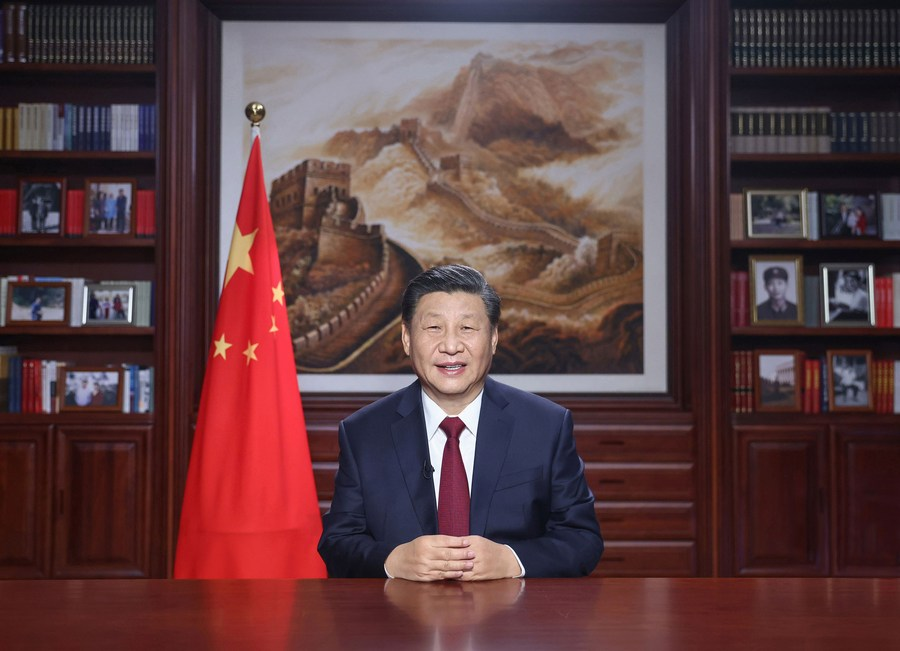 "@XHNews #XiFocus: President Xi Jinping delivers #NewYear speech, hails hard-won achievements in ""extraordinary"" 2020. Read #XinhuaHeadlines:"