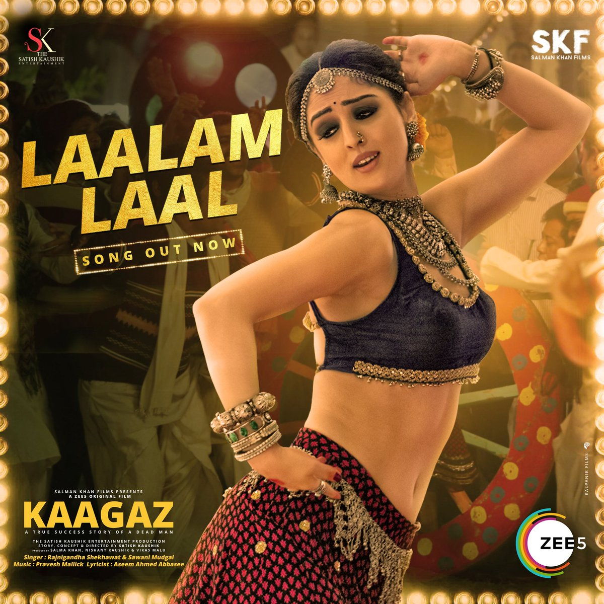 Bharal Lal Mritak's thumkas and Sandeepa Dhar's moves in #LaalamLaal are lighting up the stage in #Kaagaz Song out now! #ProofHaiKya