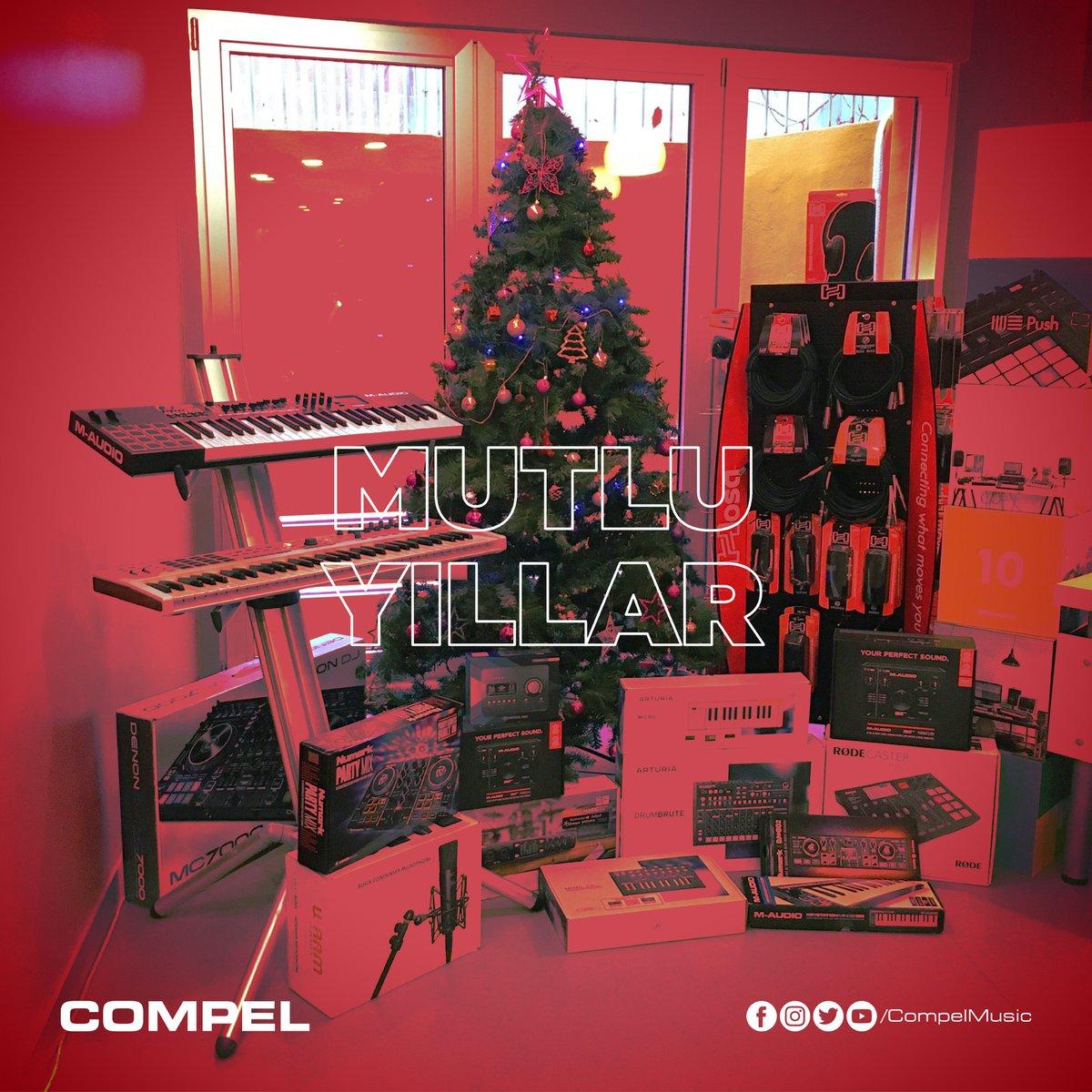 🎁🎄🎉 Sevdiklerinizle birlikte sağlıklı, mutlu, huzurlu ve müzik dolu bir yıl geçirmenizi dileriz 😊🙏 #Compel