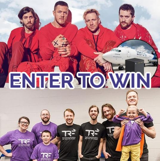 YOU could win the chance to experience zero gravity with @imaginedragons and take home a custom Imagine Dragons @Xbox Series X. This prize is worth almost $15K! Enter here:   Donations support @TRFdotORG's pediatric cancer fams.