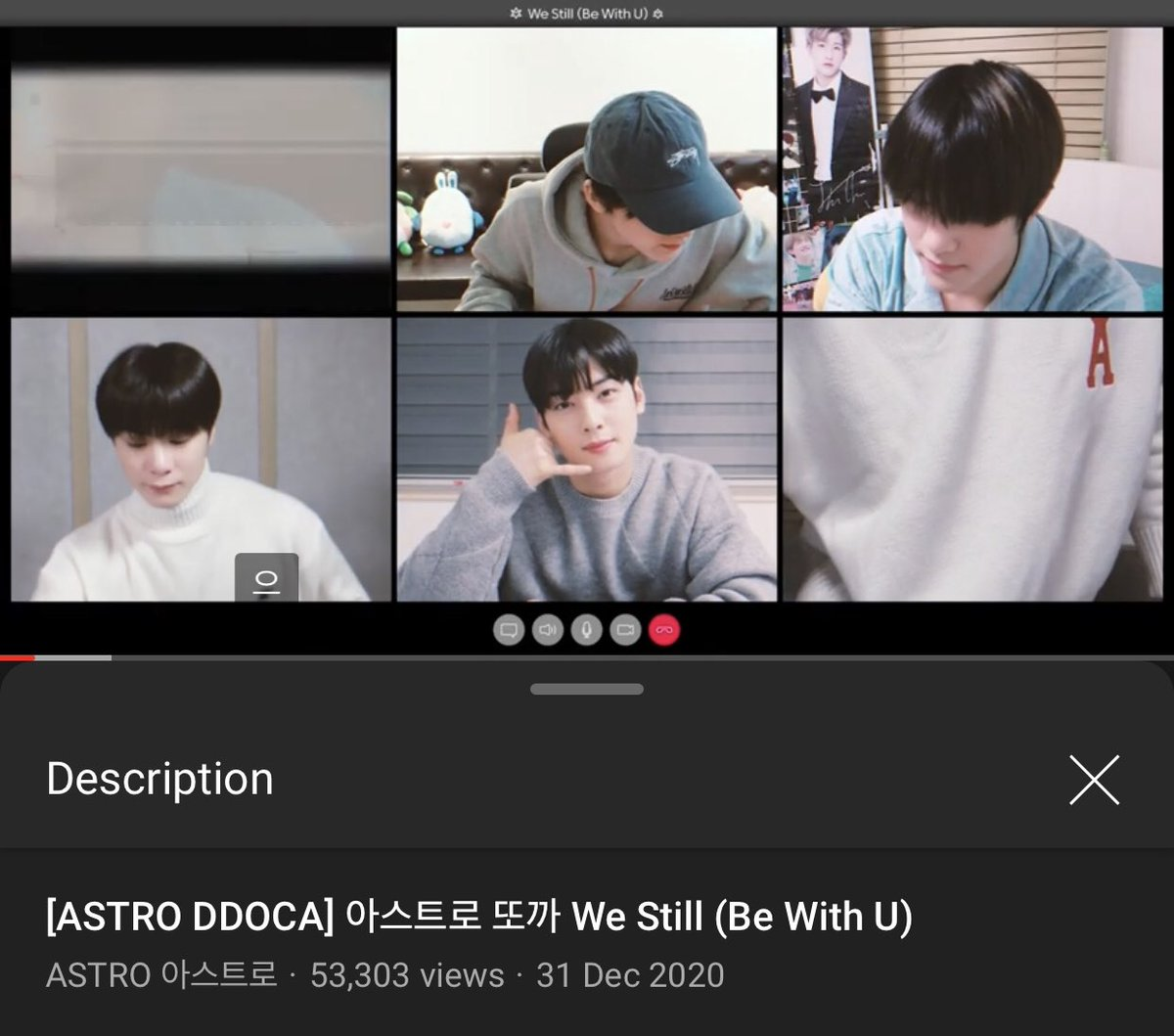 [📈] 201231 11:30 PM KST 'We Still (Be With U)' DDOCA Official Channel: 53,303 views (🔺4,211) 🔗youtu.be/zyk2KpV6avk Naver TV: 46,128 views (🔺2,889) 🔗naver.me/FVPwMoN9 [ #아스트로 #ASTRO_BeWithU @offclASTRO ]