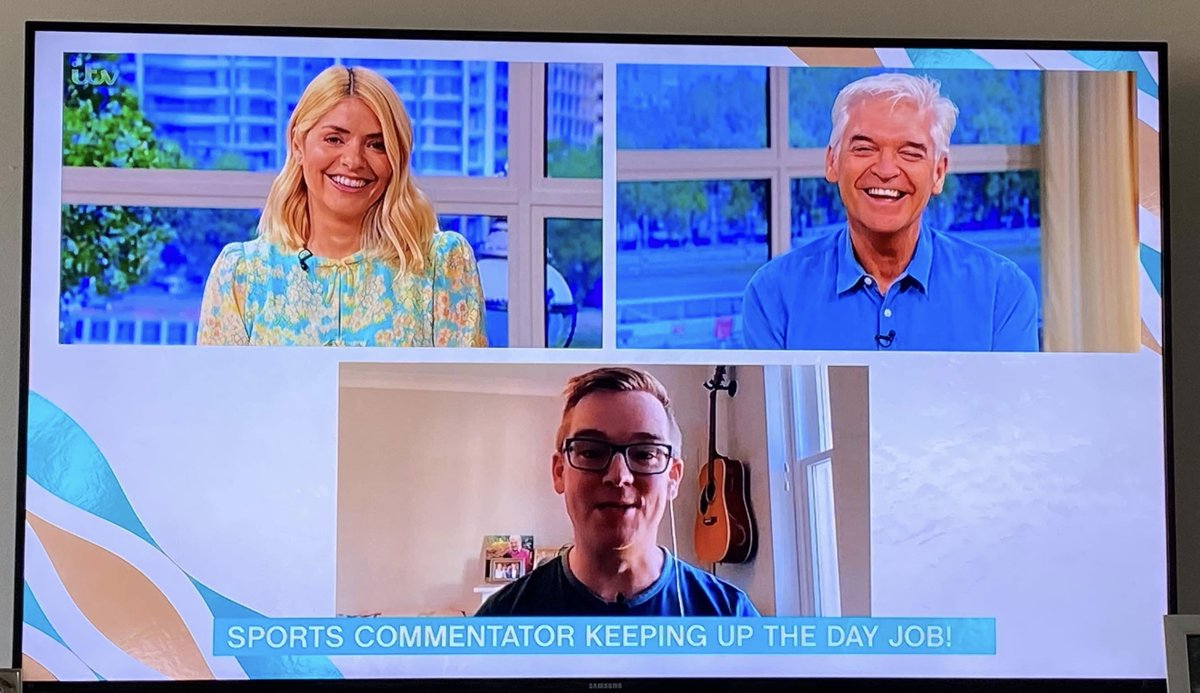 By April, I had given over 80 media interviews across the world about #LifeCommentary. Appearing on @thismorning and on @haveigotnews were the highlights.  It was a good giggle reuniting with @Schofe for the first time since my 1989 appearance on #GoingLive.